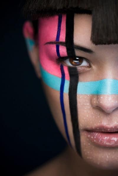 Portrait photographe beauté artistique makeup ethnique tribal
